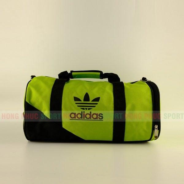 Túi trống thể thao Adidas cao cấp có ngăn đựng giày màu xanh lục