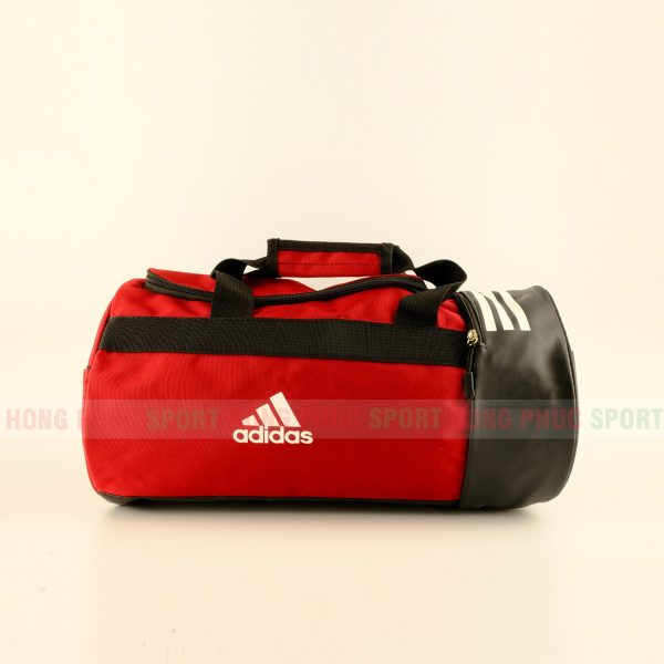 Túi trống thể thao Adidas có ngăn đựng giày màu đỏ