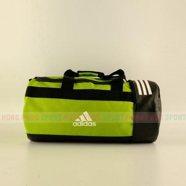 Túi trống thể thao Adidas có ngăn đựng giày màu xanh lục