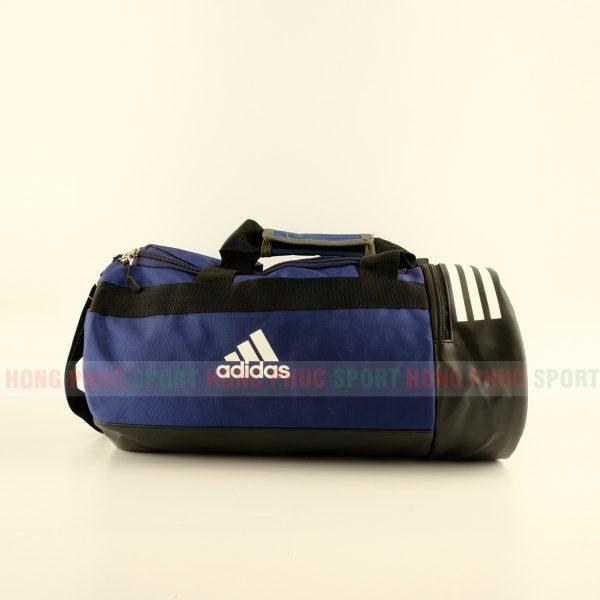 Túi trống thể thao Adidas có ngăn đựng giày màu xanh tím than
