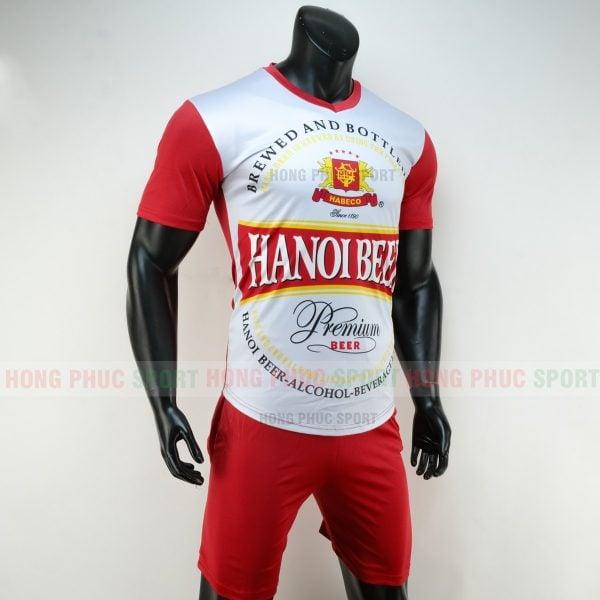 Áo đá bóng Hà Nội Beer 2019 2020 màu đỏ trắng