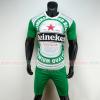 Áo đá bóng thương hiệu bia Heineken 2019 2020 màu xanh