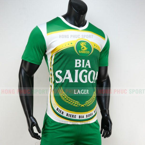 Áo đá bóng thương hiệu bia Saigon 2019 2020 màu xanh