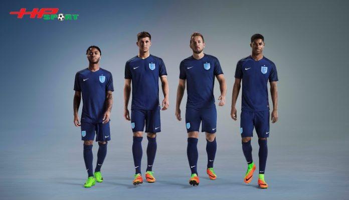Áo bóng đá đội tuyển Anh sân khách Euro 2020 màu xanh