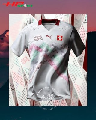 Áo bóng đá đội tuyển Thụy Sĩ sân khách Euro 2020