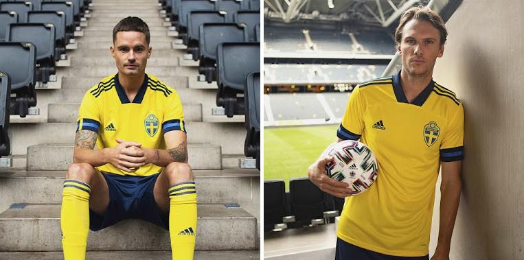 Áo bóng đá đội tuyển Thụy Điển sân nhà Euro 2020