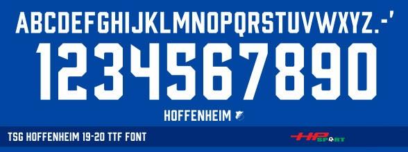 Phông số đẹp TSG Hoffenheim 2019/2020 (File .ttf)