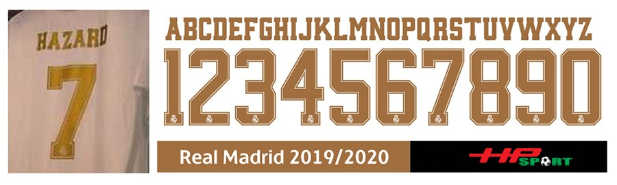 Font số đẹp Real Madrid 2020 2021 (File .cdr)