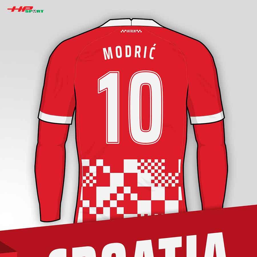 Áo bóng đá sân nhà đội tuyển Croatia Euro 2020