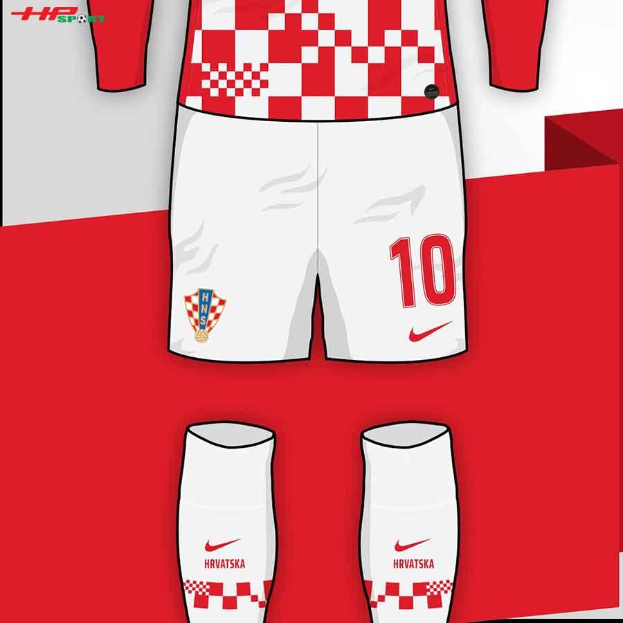 Ra mắt mẫu áo đội tuyển Croatia Euro 2021 sân nhà