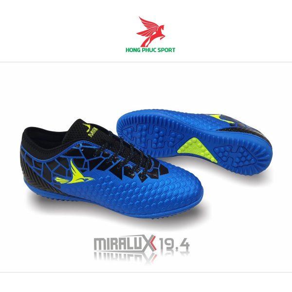 Giày đá bóng cổ cao Mira Lux 19.4 xanh biển sân cỏ nhân tạo