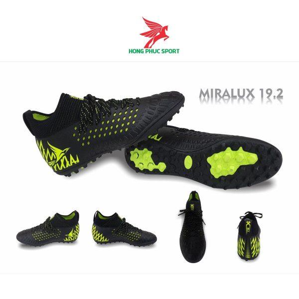 Giày đá bóng cổ cao Mira Lux 19.2 đen chuối sân cỏ nhân tạo