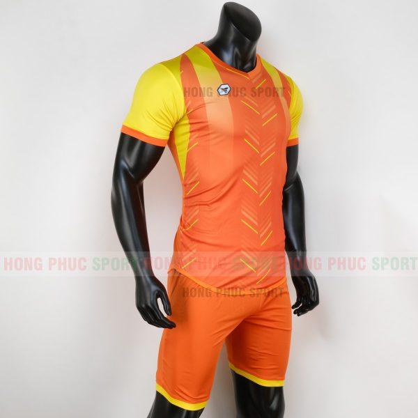 Áo bóng đá không logo deep màu cam 1