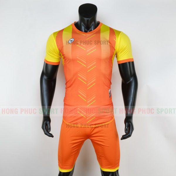 Áo bóng đá không logo deep màu cam 5