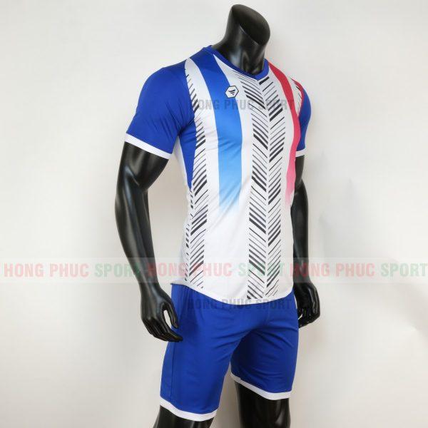 Áo bóng đá không logo deep màu trắng 2