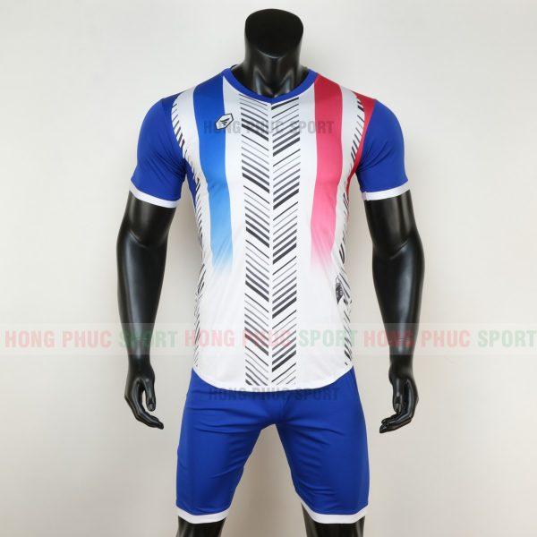 Áo bóng đá không logo deep màu trắng 6