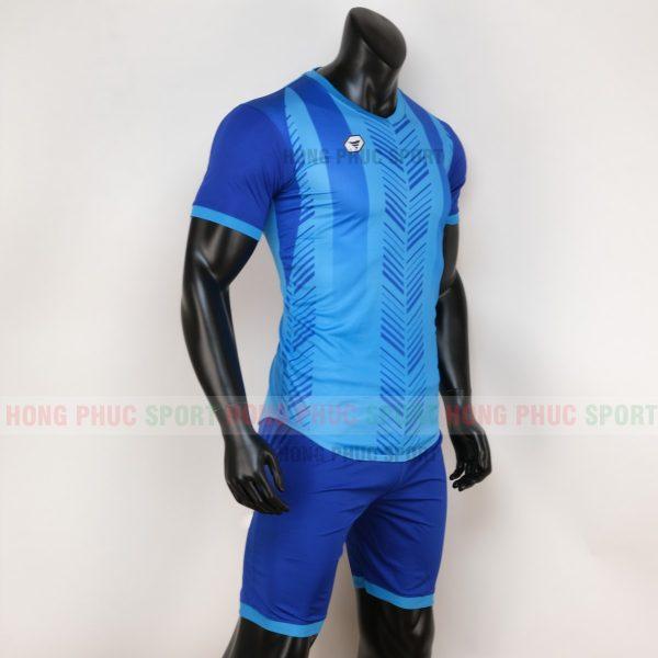 Áo bóng đá không logo deep màu xanh bích 1