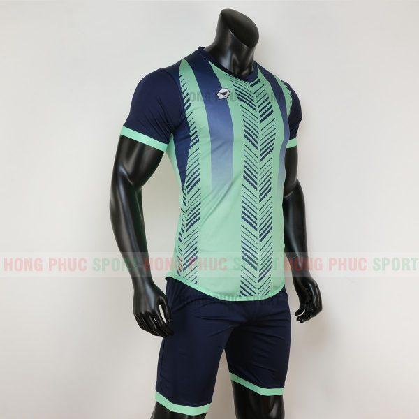 Áo bóng đá không logo deep màu xanh ngọc 1