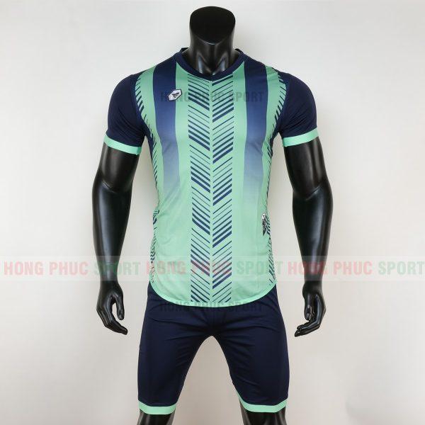 Áo bóng đá không logo deep màu xanh ngọc 5