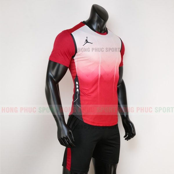 Áo bóng đá không logo jordan màu đỏ 1