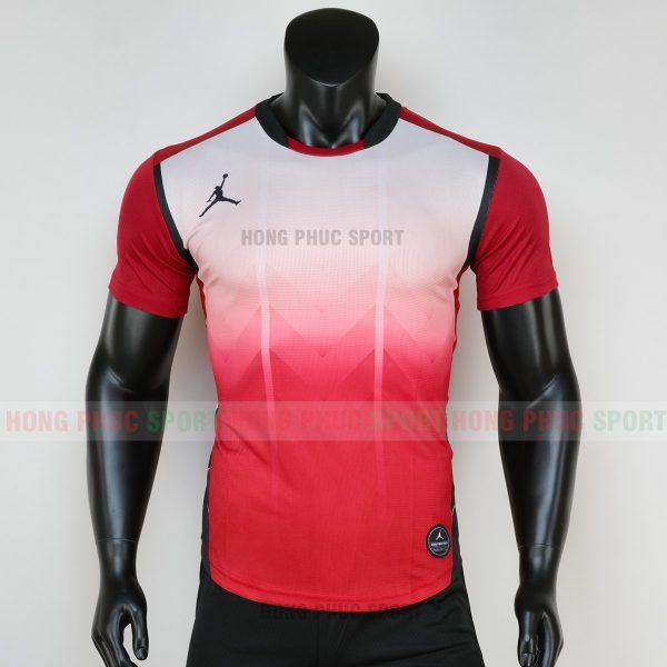 Áo bóng đá không logo jordan màu đỏ 6