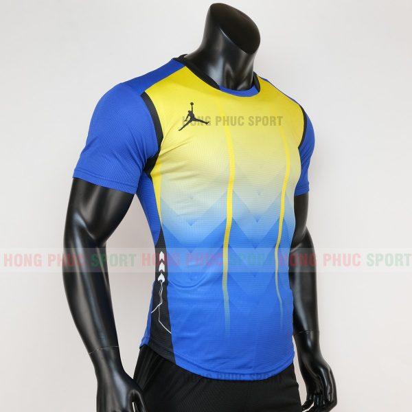 Áo bóng đá không logo jordan màu vàng xanh 1