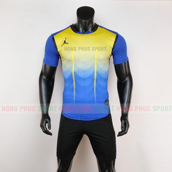 Áo bóng đá không logo jordan màu vàng xanh 6