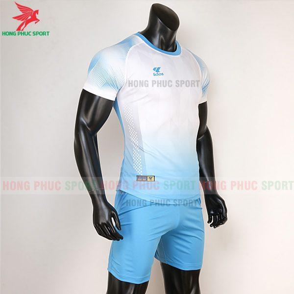 áo bóng đá không logo Mizuno trắng xanh biển 5