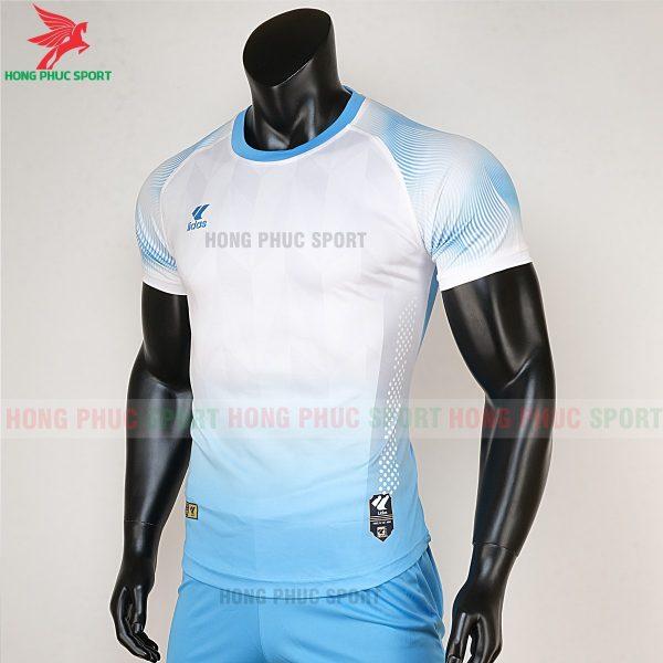 áo bóng đá không logo Mizuno trắng xanh biển 3