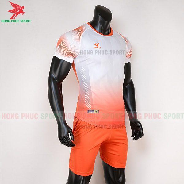 áo bóng đá không logo Mizuno trắng cam 4