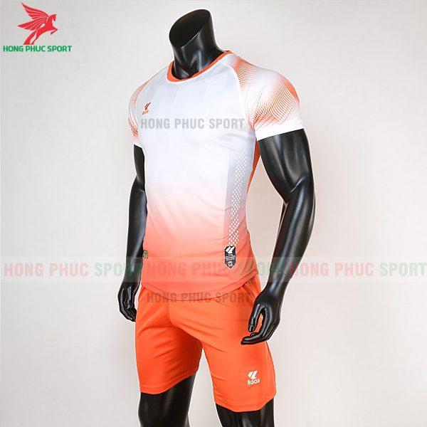 áo bóng đá không logo Mizuno trắng cam 3