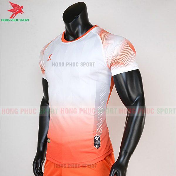 áo bóng đá không logo Mizuno trắng cam 2