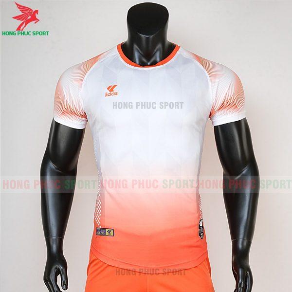 áo bóng đá không logo Mizuno trắng cam 1