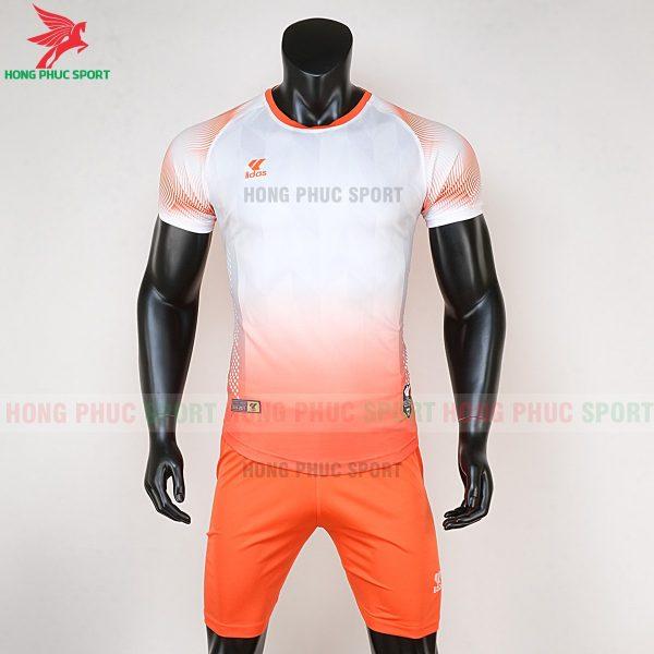 áo bóng đá không logo Mizuno trắng cam