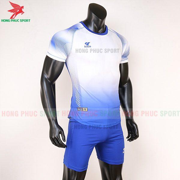 áo bóng đá không logo Mizuno trắng xanh dương 5