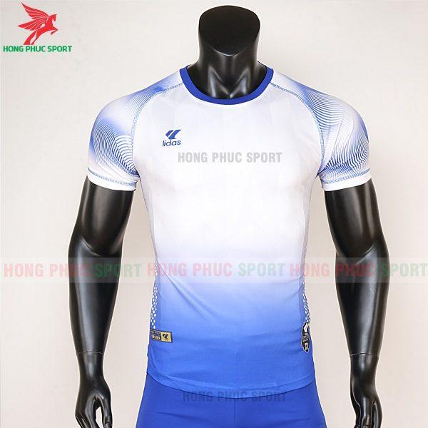 áo bóng đá không logo Mizuno trắng xanh dương
