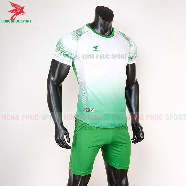 áo bóng đá không logo Mizuno trắng xanh lá 4