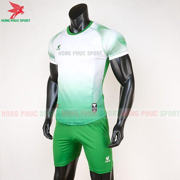 áo bóng đá không logo Mizuno trắng xanh lá 3