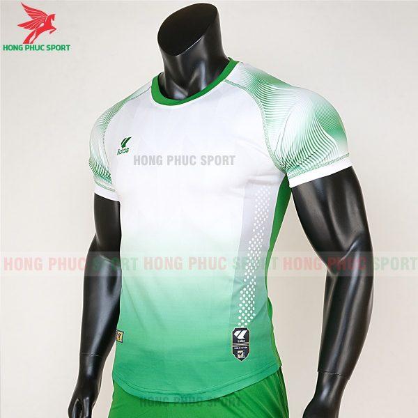 áo bóng đá không logo Mizuno trắng xanh lá 2