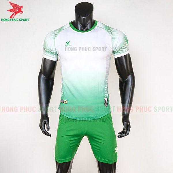 áo bóng đá không logo Mizuno trắng xanh lá