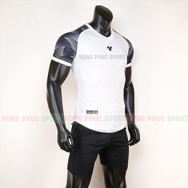 Áo bóng đá không logo Lidas wariors trắng đen 5