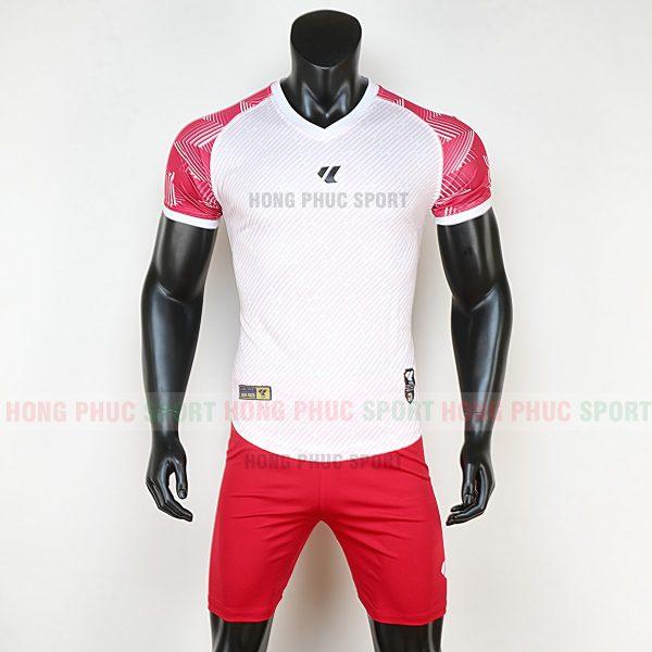 Áo bóng đá không logo Lidas wariors trắng đỏ
