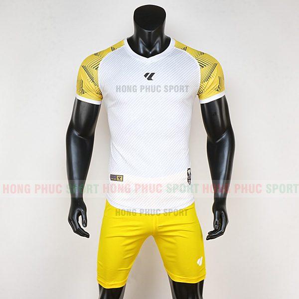 Áo bóng đá không logo Lidas wariors trắng vàng