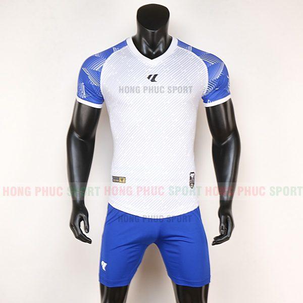 Áo bóng đá không logo Lidas wariors trắng xanh dương