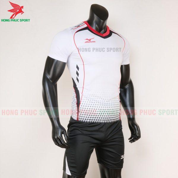 áo bóng đá không logo Mizuno màu trắng 5