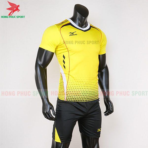 áo bóng đá không logo Mizuno màu vàng 4