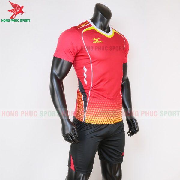 áo bóng đá không logo Mizuno màu đỏ 4