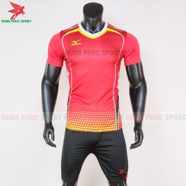 áo bóng đá không logo Mizuno màu đỏ