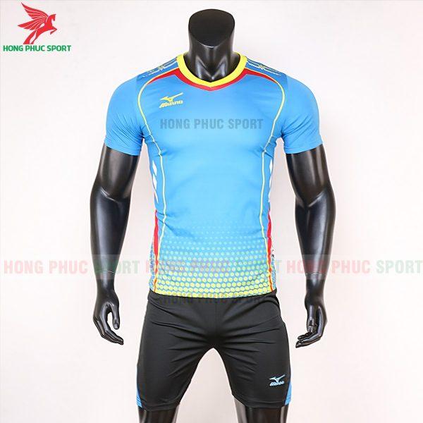 áo bóng đá không logo Mizuno xanh lam