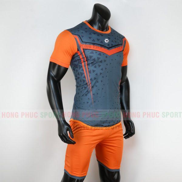 Áo bóng đá không logo mutanst màu xám cam 1
